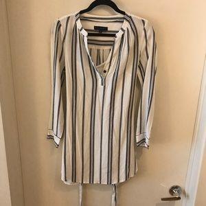 Sanctuary, B&W, long sleeve, tie waist dress